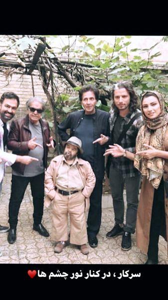 بازیگر خوش قامت سینمای ایران در جمع نور چشمی هایش + عکس