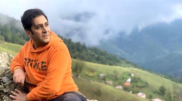 وحید شیخ زاده در ارتفاعات سر سبز مازندران + عکس