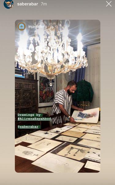 صابر ابر و نقاشی های هنرمندانه اش+عکس