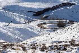 منظرههای زمستانی جاده طالقان