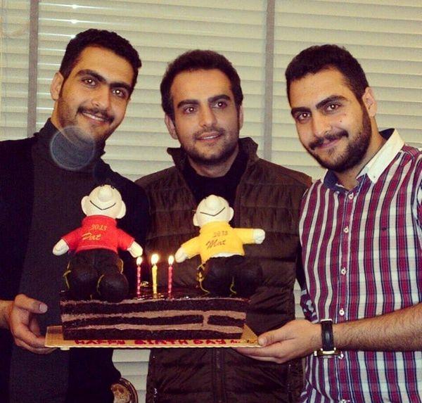 حامد کمیلی و برادران دوقلواش+عکس