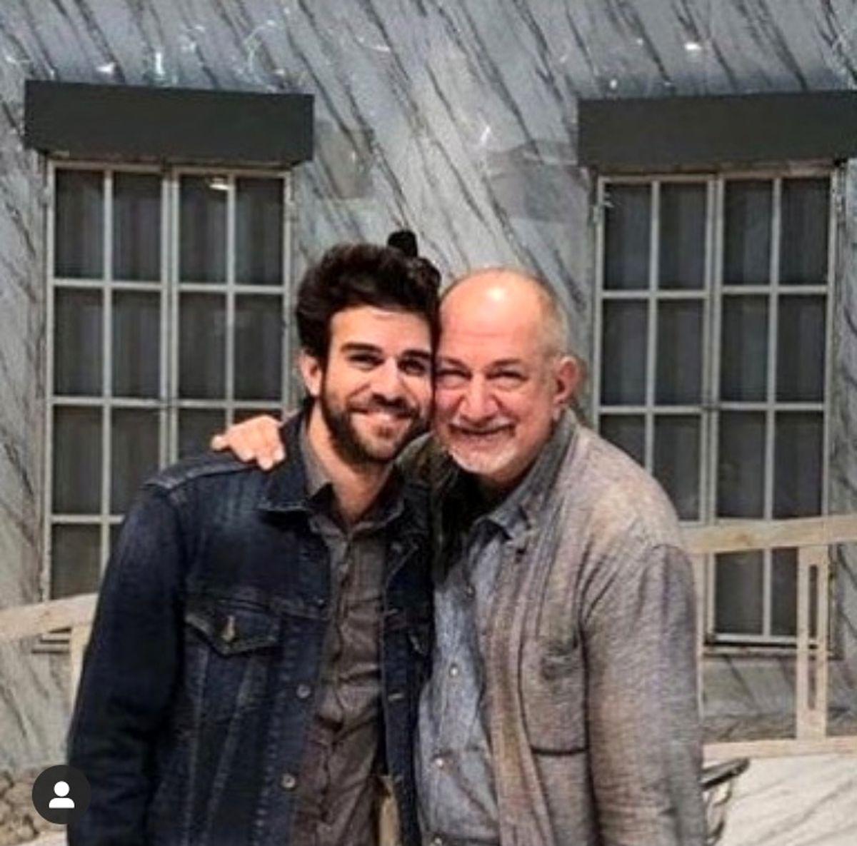 آتیلا پسیانی و پسرش بازیگر سریال مردم معمولی + عکس