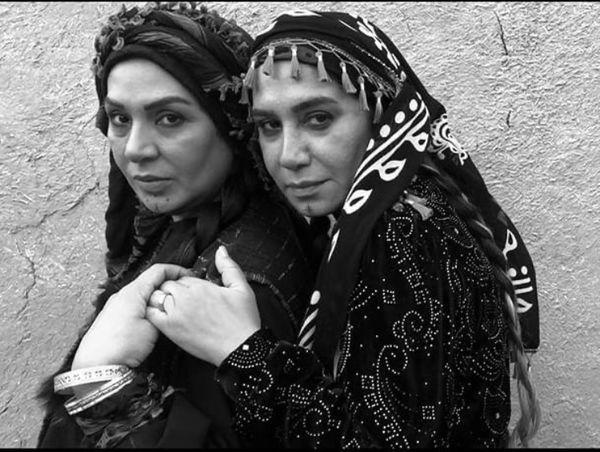 نسرین مقانلو و نسیم ادبی در آغوش هم + عکس