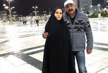 زوج بازیگر معروف در حرم امام رضا (ع)+عکس