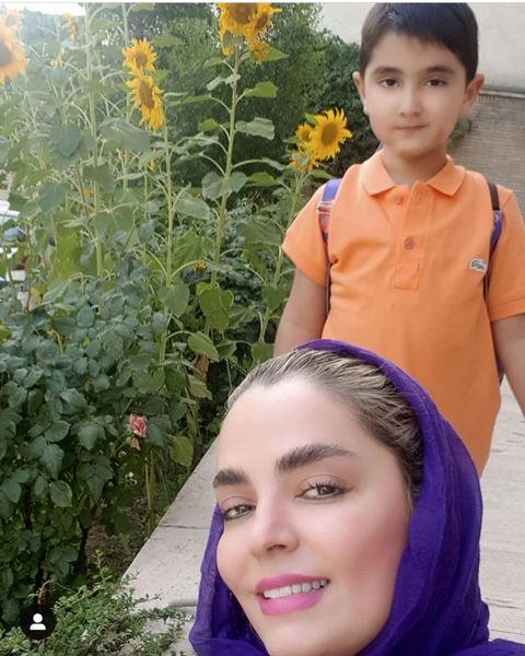 عاشقانه های سپیده خداوردی و پسرش + عکس