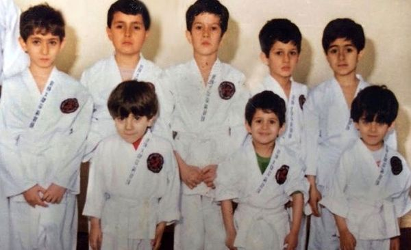 کودکی های سیاوش خیرابی با لباس کاراته + عکس
