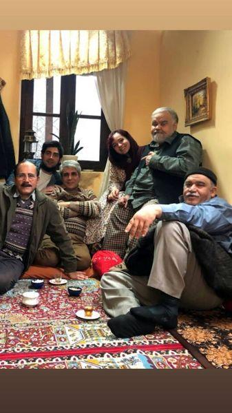 دورهمی مدل اکبر عبدی و دوستانش + عکس