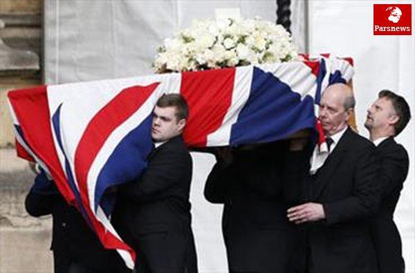 آغاز مراسم تدفین تاچر