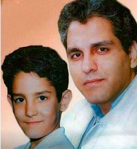 جوانی های مهران مدیری در کنار پسرش + عکس
