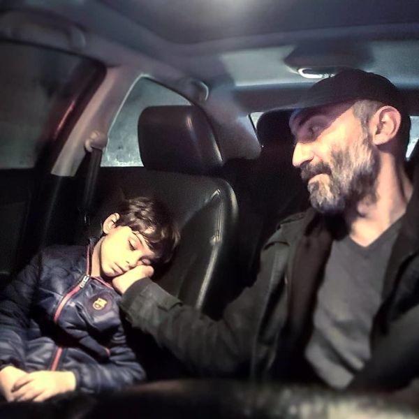 حس شیرین پدرانه هادی حجازی فر با پسرش+عکس