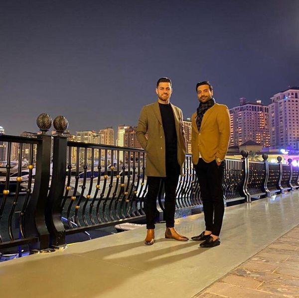 مرتضی پور علی گنجی در قطر+عکس