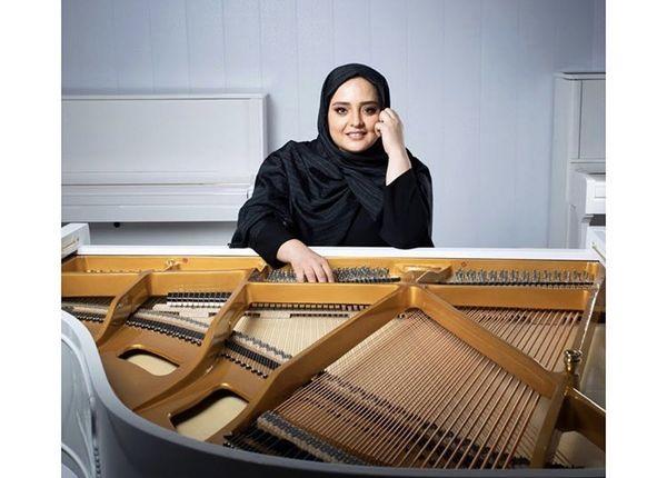 پیانو حرفه ای نرگس محمدی + عکس