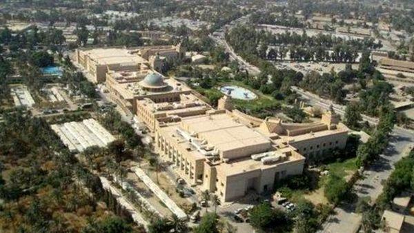 حمله راکتی در نزدیکی سفارت آمریکا در بغداد/فیلم