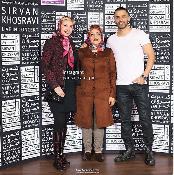 عکس سیروان خسروی و مادرش در کنار کتایون ریاحی