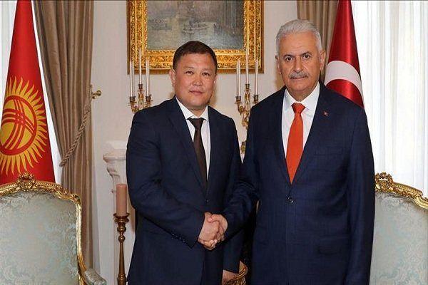 دیدار «ایلدریم» با رئیسمجلس قرقیزستان