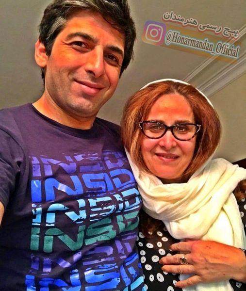 حمید گودرزی و مادرش+عکس