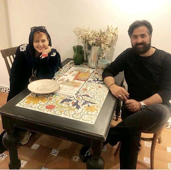بهاره رهنما و همسرش در یک رستوران + عکس