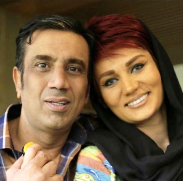 نصرالله رادش و همسرش + عکس