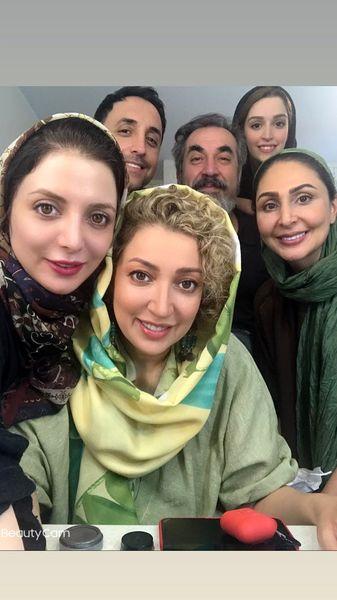نگار عابدی ودوستانش در پشت صحنه + عکس