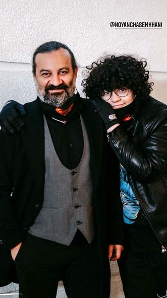 تیپ عروسی طوری مهراب قاسم خانی و پسرش + عکس