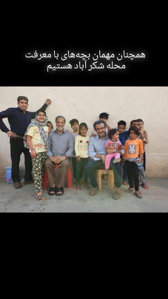 مهران غفوریان در جمع بچه های شکرآباد + عکس