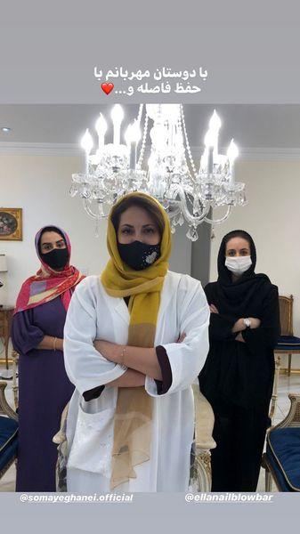 فاطمه گودرزی ودوستانش در حانه جدیدش + عکس