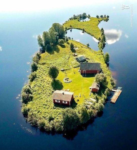 جزیرهای زیبا و کوچک در فنلاند