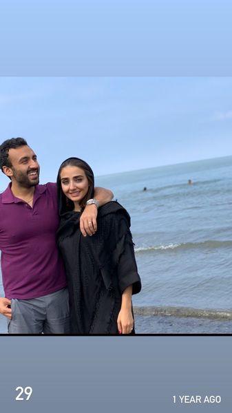 زوج دوست داشتنی ایلدا در کنار دریا + عکس