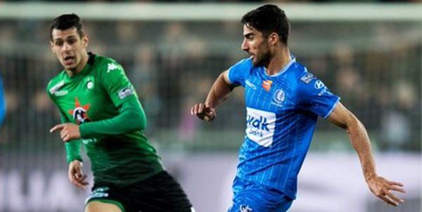 میلاد محمدی در ترکیب خنت در لیگ فوتبال بلژیک
