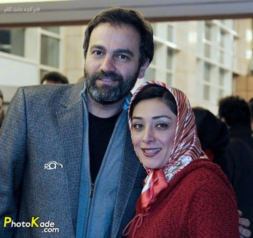 عکس ساده و زیبا بازیگر ارمغان تاریکی و همسرش