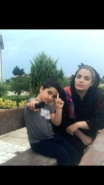 سپیده خداوردی و پسرش در شمال + عکس