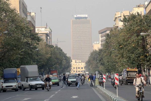 کاهش کیفیت هوا در برخی مناطق پایتخت