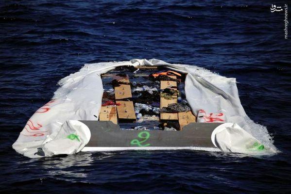 مرگ پناهجویان در مدیترانه+تصاویر