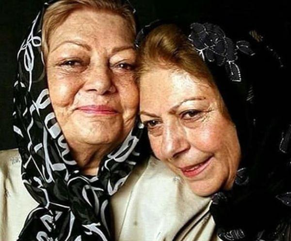 عکس عاشقانه مادر و دختر بازیگر پیشکسوت