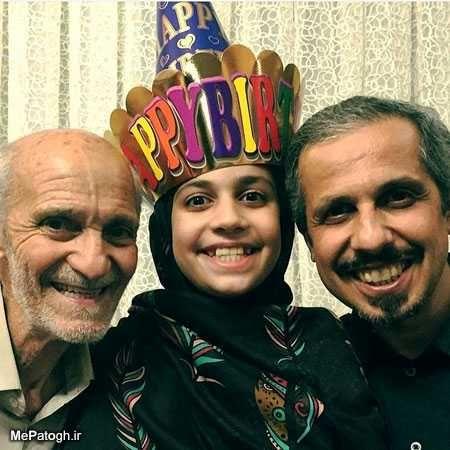 شباهت دیدنی جواد رضویان و دخترش+عکس