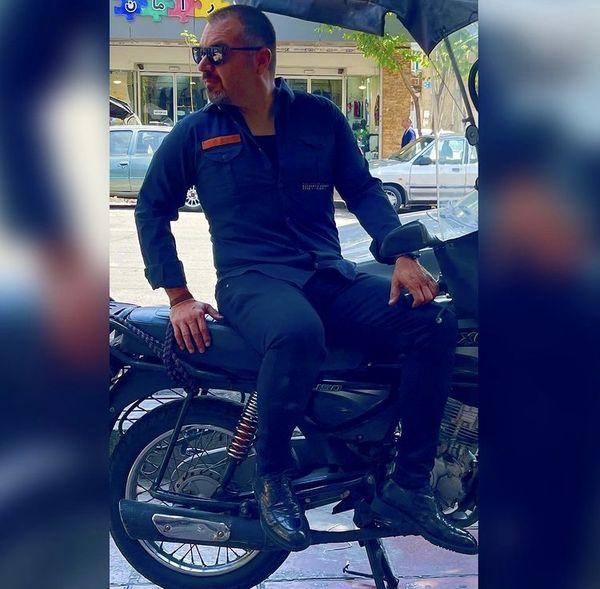 تیپ موتورسواری شهرام قائدی + عکس