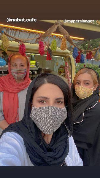 لیلا بلوکات در کنار دوستانش + عکس