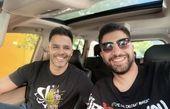 زانیار خسروی و برادرش در ماشین لوکسشون + عکس