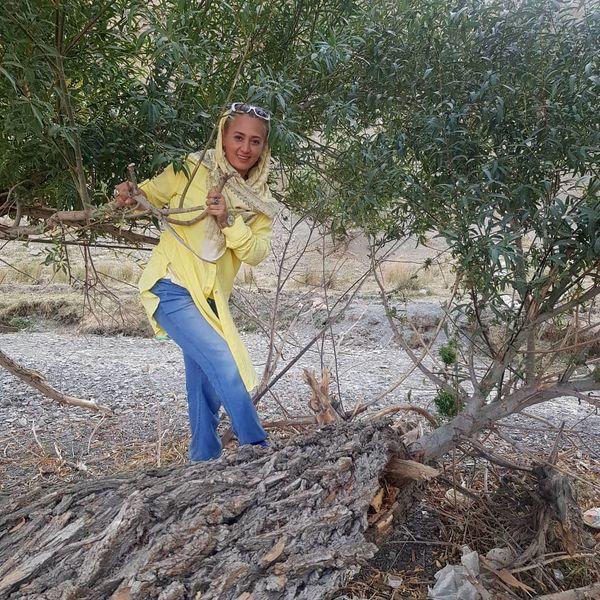 شیطنت مادر حبیب لیسانسه ها در طبیعت+عکس