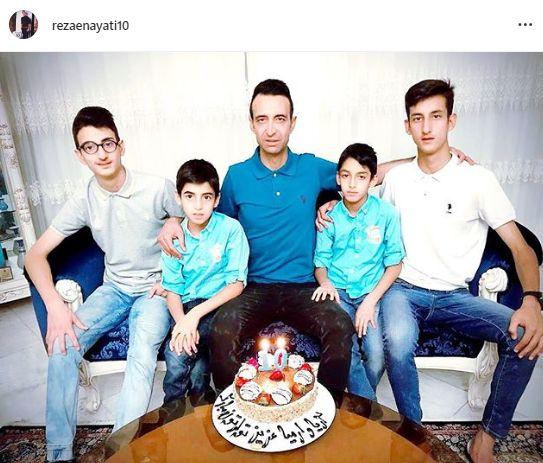 جشن تولد دوقلوهای رضا عنایتی+عکس