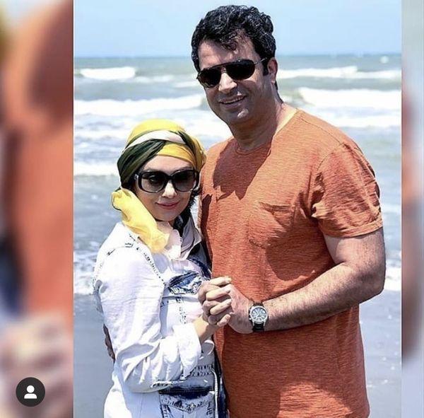عاشقانه های یکتا ناصر و همسرش لب دریا + عکس