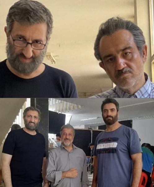 گریم دیده نشده از مهران غفوریان و یوسف صیادی در فیلم جدیدشان + عکس