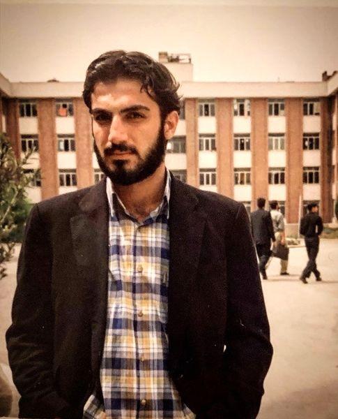 دوران دانشجویی کوروش سلیمانی در محوطه دانشگاه + عکس