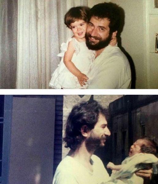 کودکی ستاره پسیانی در آغوش پدر مشهورش + عکس