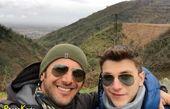 کوه پیمایی امین حیایی و پسرش+عکس