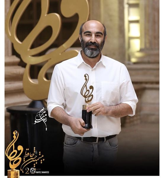 محسن تنابنده برنده تندیس حافظ بهترین بازیگر کمدی تلویزیون + عکس