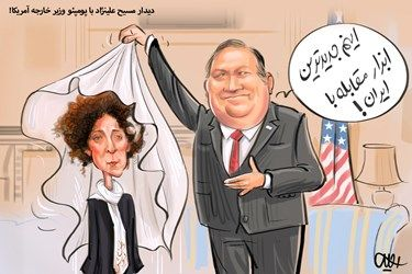 کاریکاتور :قدردانی وزیر خارجه آمریکا از مسیح علینژاد!