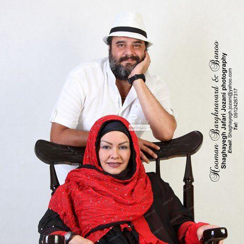 عکس آتلیه ای هومن برق نورد و همسرش
