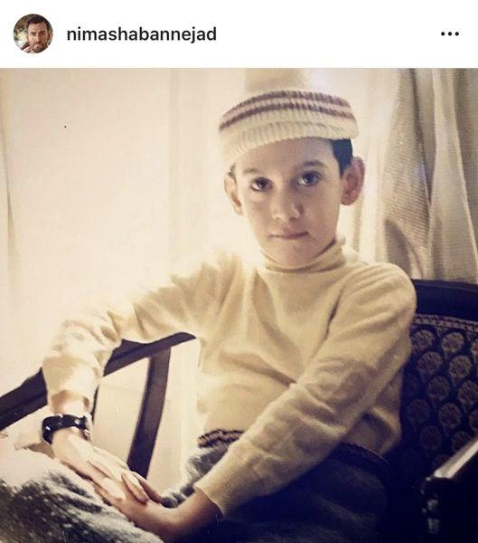 نیما شعبان نژاد در کودکی + عکس