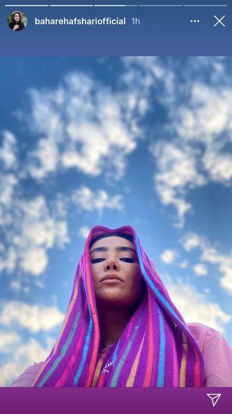 سلفی سر به هوایی بهاره افشاری + عکس